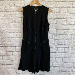 VERSACE VINTAGE Black Sleeveless Dress with Zipper